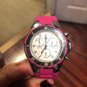 Michele Tahitian Jelly Pink Watch